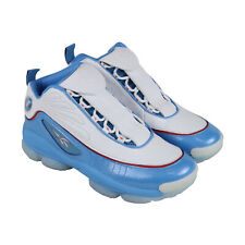 Reebok Iverson Legacy Mens Blue Leather Athletic Basketball Shoes