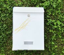mailbox white & gold italian style Wall Mounted Exterior Post box vintage