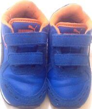 PUMA - scarpe da ginnastica - N° 23 - colore blu e arancione - chiusura velcro