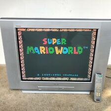 """SONY 27"""" KV 27FS100 Trinitron CRT GAMING TV CCTV TELEVISION 2003 NES SNES VTG"""