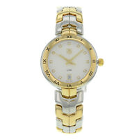 TAG Heuer Link Steel 18K Yellow Gold Guilloche Quartz Lady Watch WAT1350.BB0957