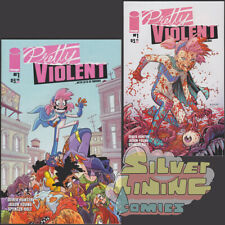 PRETTY VIOLENT #1 Set of Two COVER A + B OTTLEY VARIANT 1st Print SOLD OUT