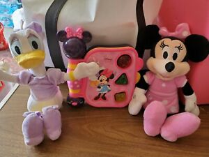 """Disney Junior Minnie Mouse Bowtique My 1st Learning Book + Minnie & Daisy 10""""..."""