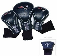 New England Patriots Golf Club 3 Piece Headcover Set [NEW] NFL Head Cover Sock