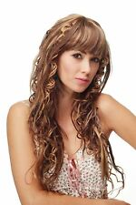Damen Perücke Wig feenhaft verdrehte Locken Braun Blond Mix lang 5180LA-271-272