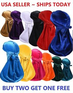 Women Men Unisex Velvet Durag Hat Cap Premium Designer Doo Rag Wave Biker Dance