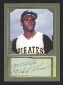 ROBERTO CLEMENTE - ACEO BASEBALL CARD WITH AUTOGRAPH REPRO - MINT CONDITION
