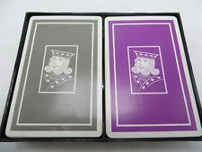 Vintage Baron Barclay Double Deck Playing Cards - Purple & Gray Decks