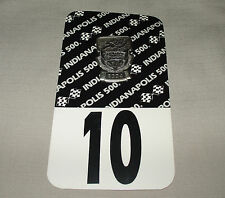 1989 INDIANAPOLIS INDY 500 SILVER PIT PASS GARAGE BADGE #10 ORIGINAL CARD BACKER