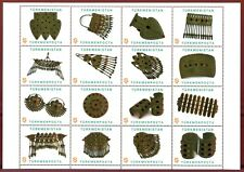 2014 Turkmenistan Turmen Women gold jewelry 16 stamps 1 List RARE