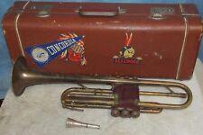 Vtg ROBBIE & SONS Trumpet/Horn w/Getzen Mouthpiece/Case U of I/Concordia J0613