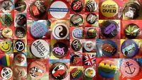 24mm Fashion Fun Trendy Novelty Funny Rude Button Pin Hat Tie Bag Badge x 1