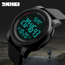 SKMEI Mens Large Display Digital Watch Resin Strap Stopwatch Alarm 1257 FT