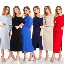 Women Cocktail Dress Summer Dress Calf Length One Shoulder With Pocket 10-18 104