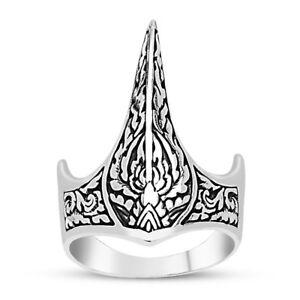 Handmade 925 SILVER Dirilis Ertugrul archer ottoman Zihgir thumb ring box RRP£50