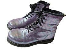 Dr Doc Martens Purple Iridescent Leather 5