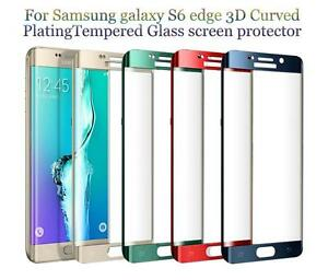 TEMPERED GLASS Samsung Galaxy S6 Edge Plus Screen Protector Full Coverage CURVED