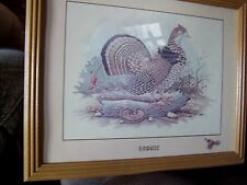 """Framed E. Rambow Grouse Picture  12-3/4"""" x 15-3/4"""""""