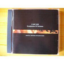 "Carcass ""Symphonies Of Sickness"" Jewelcase CD - NEW"