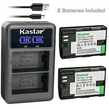 Kastar 2x Battery & Charger for Canon EOS 60D 70D 80D 5D Mark II III 6D 7D LP-E6