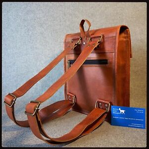 """Leather Backpack 11"""" Tall Goat Leather B11T iPad Satchel Billy Goat Designs"""