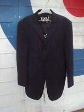 BNWT Mod Three Button Suit Jacket In Charcoal Stripe Detail Size 40R