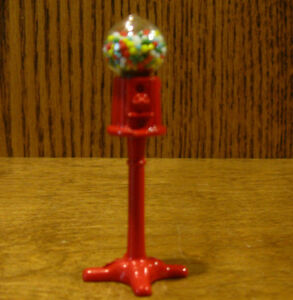 """Doll/Teddy Miniature Accessory; GEMBALL MACHINE, 2.875"""" high metal and plastic"""