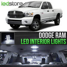2006-2008 Dodge RAM 1500 2500 3500 White Interior LED Lights Kit Package