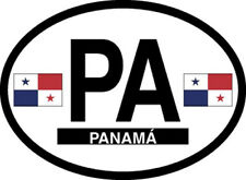 panama oval vinyl sticker decal bumper flag Country