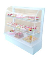 Fine Acrylic Miniature Bakery Cake Display Shelf Counter Dollhouse Shop Kid Toy