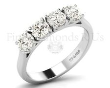 1.20 Carat Round Brilliant Cut Diamond Engagement Ring Available in 950Platinum