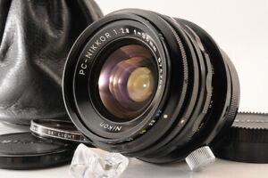 【NEAR MINT+】NIKON PC-NIKKOR 35mm F/2.8 MF Shift Camera Lens +Filter Case JAPAN