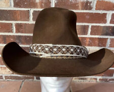 Resistol Stagecoach Western Cowboy Hat Brown Size 7 1/2 Wild West Fabric Trim