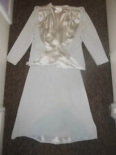 Amazing Silver Tom Bowker Coterie Outfit Size 16 Wedding Mother of the Bride