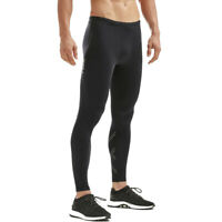 2XU Mens Aspire Compression Tights Bottoms Pants Trousers Black Sports Running