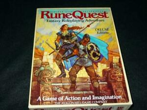 Avalon Hill : RUNEQUEST - Fantasy Role Playing - Deluxe Edition 3rd Ed  Chaosium