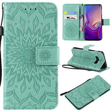For Samsung Galaxy S10e S9 S8 S7 S6 S5 S4 S3 Mandala Embossed Leather Case Cover