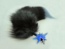 Roleplay Fox Cane Giocattolo Animale Coda con spina di silicone Adulto Costume