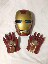 Iron Man Mask & Gloves Cosplay Costume Repulsor Lights Sound Marvel Avengers