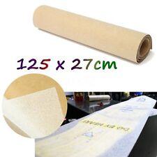 """50 x 10"""" Clear PVC Longboard Skateboard Griptape Thickened Grip Tape Sheet 125cm"""