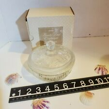 Avon Beauty Dust Crystalique Decanter Container for 6 oz Powder Refills NIB