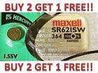 364 MAXELL WATCH BATTERIES SR621SW SR621 SW364 New BUY 2 GET 1 FREE!!