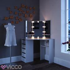 Vicco Eckschminktisch Arielle schwarz mit LED - Kosmetiktisch Frisiertisch