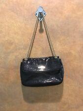 Anne Klein Womens Black Printed Gold Chain Snap Closer Purse