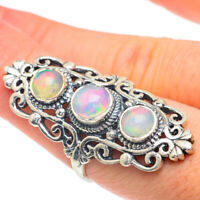 Large Ethiopian Opal 925 Sterling Silver Ring Size 8 Ana Co Jewelry R61149F