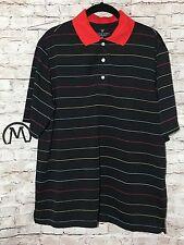 Lyle & Scott Men's Polo Golf Shirt Top Medium Performance Black Stripe