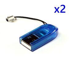 2 PCS Small Light Portable Micro SD MicroSD SDHC Memory Card USB Adapter Reader