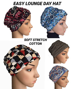 HEADWEAR FOR HAIR LOSS, EASY PULL ON  LOUNGE DAY HAT, CHEMO, ALOPECIA, CANCER