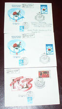 RUSSIA 3 FDC  COVER   MOSCOW CANCELED FACE, VOLGOGRAD -BACK  #121