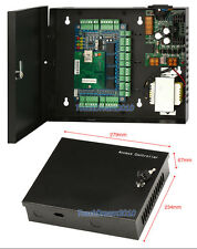 NEW 4 Door Network Access Control Controller Board + 110V~240V Steel Power Box